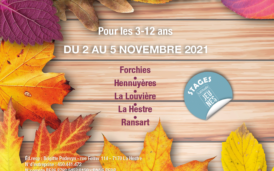 Stages – automne 2021